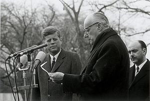 Chilean land reform - President Jorge Alessandri with President John F. Kennedy in 1962. The administration of both presidents supported the land reform.
