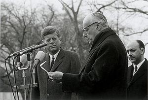 Jorge Alessandri - President Jorge Alessandri with President John F. Kennedy (1962)