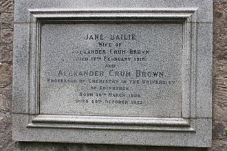 Alexander Crum Brown - Image: Alexander Crum Brown's grave, Dean Cemetery