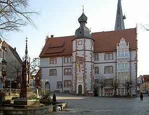 Alfeld - Alfeld town hall, behind St. Nicolai
