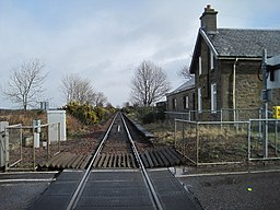 Allanfearn railway station (site), Highland (geograph 4425157)