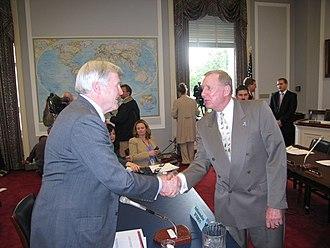 Michael Wilson (Canadian politician) - Wilson with United States Congressman Dan Burton in 2006