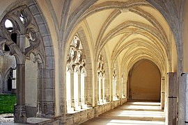 Cloister of Ambronay Abbey