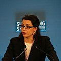 Amel Karboul, Secretary General of Maghreb Economic Forum at the Supporting Syria conference (cropped).jpg