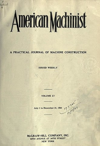 American Machinist - Image: American Machinist, 1921