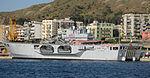 Amphibious assault ship San Giorgio (L 9892) - (Two images merged) - Harbour of Reggio Calabria - Italy - 28 Sept. 2008.jpg