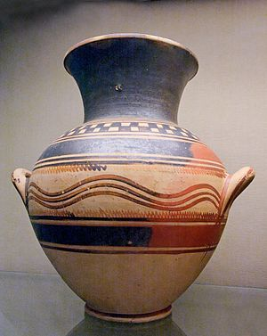 Dorian invasion - Proto-geometric pottery, of Athens, not Sparta.