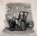 An old Napoleonic soldier sits dreaming in his armchair Wellcome V0019081.jpg