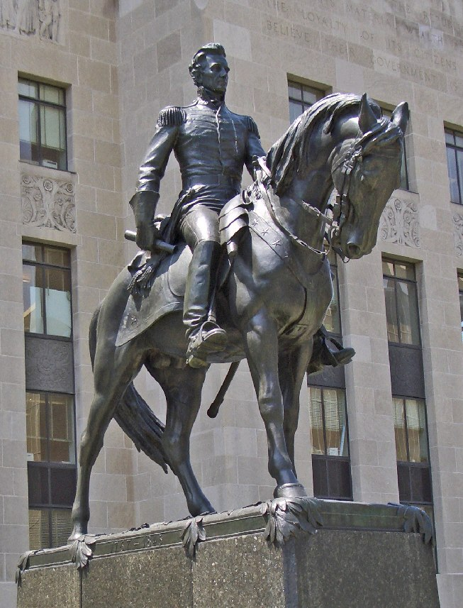 Andrew Jackson statue County Courthouse KC Missouri