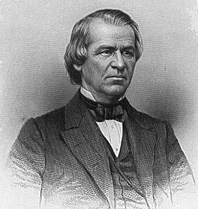 Engraving of Andrew Johnson