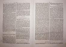 Leserbrief von Chézys in einer Beilage zur Dresdner Abend-Zeitung, 1824 (Quelle: Wikimedia)