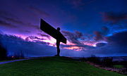 Angel of the North silhouette