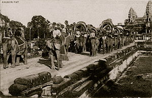 Khmer people - Angkor Wat in the 1900s.
