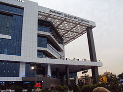 A View Of The Anna Centenary Library In Kotturpuram