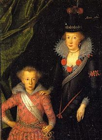 Anne Catherine of Denmark with Christian, Prince Elect, 1611.jpg