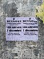 Annonce affichée Rue des Andrés (Saint-Maurice-de-Beynost) du vide-grenier du 2019-12-01 à Beynost.jpg