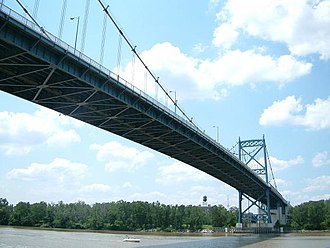 Anthony Wayne Bridge - Anthony Wayne Bridge crossing the Maumee River
