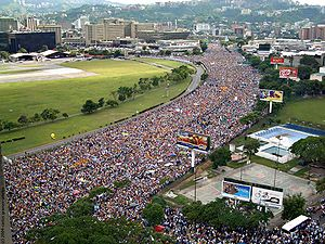 History of Venezuela (1999–present) - A rally in Caracas.