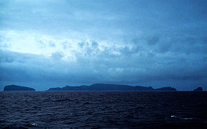 Antipodes Islands - The Antipodes Islands seen from the north
