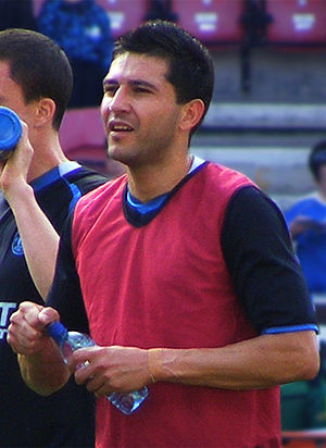 Antolín Alcaraz - Alcaraz warming up for Wigan Athletic in 2011