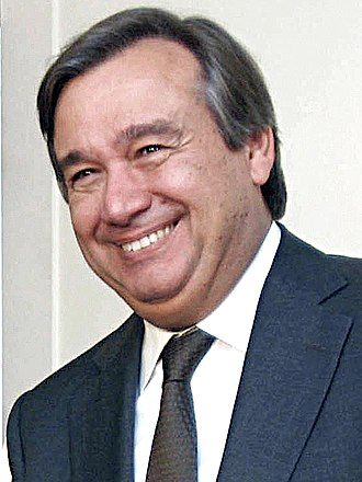 Socialist Party (Portugal) - António Guterres, Prime Minister from 1995 to 2002. Currently the 9th Secretary-General of the United Nations.