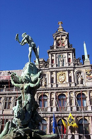 Antwerp City Hall - Frontal view of the city hall