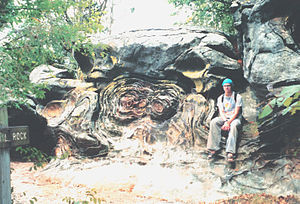 Liesegang rings (geology) - Anvil rock, Shawnee National Forest, IL