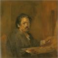 AoyamaKumaji-1932-Self-Portrait with a Palette.png