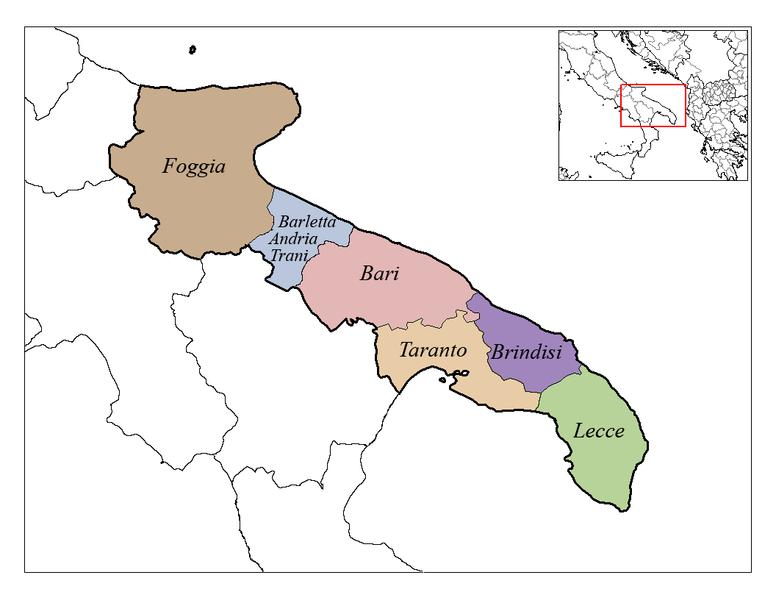 https://upload.wikimedia.org/wikipedia/commons/thumb/7/7c/Apulia_Provinces.png/776px-Apulia_Provinces.png
