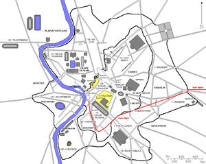 Aqua Appia - Map of Aqua Appia in Rome