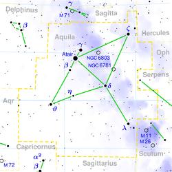Alshain oppe til venstre over centrum af kortet.