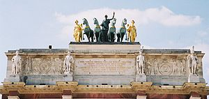 Arc de Triomphe du Carrousel - Entablement and quadriga