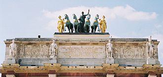 Arc de Triomphe du Carrousel - Entablement and quadriga