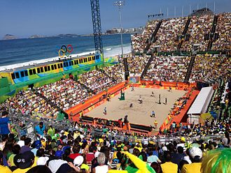 Copacabana Stadium - The Copacabana Stadium during an Olympic volleyball match