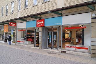 Argos (retailer) - A rebranded Argos branch in Huddersfield, West Yorkshire