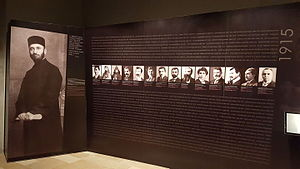 Deportation of Armenian intellectuals on 24 April 1915 - An exhibition dedicated to the deported intellectuals at the genocide museum in Yerevan.