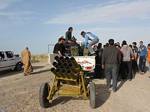 Type 63 multiple rocket launcher - A Type 63 used by Libyan rebels