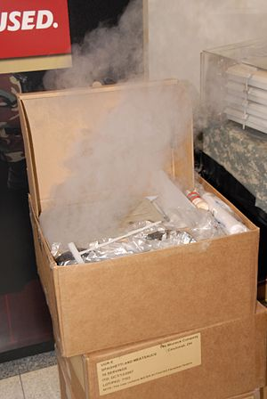 Active packaging - Self-heating field rations for up to 18 soldiers