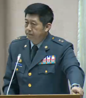 Army (ROCA) Lieutenant General Chen Hsiao-ming 陸軍中將陳曉明 (20160512 09:53:05 20th Full-meeting of the Foreign and National Defense Committee, Legislative Yuan 立法院外交及國防委員會第20次全體委員會議).png