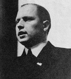 Arnold Meijer - Image: Arnold Meijer (1905–1965) Leider van Zwart Front aan het woord