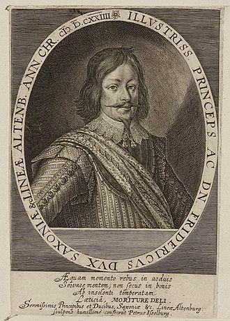 Duke Friedrich of Saxe-Altenburg - Image: Arolsen Klebeband 01 171 2