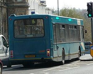 Plaxton Prestige - Image: Arriva Kent & Sussex 3914 rear