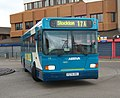 Arriva bus 278 Scania L113 East Lancs P278 VRG in Middlesbrough bus station 5 May 2009.JPG