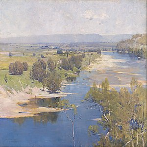 Heidelberg School - Arthur Streeton, 'The Purple Noon's Transparent Might' (1896), painted on the Hawkesbury River