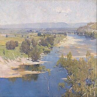 Heidelberg School - Arthur Streeton, 'The Purple Noon's Transparent Might' (1896), painted on the Hawkesbury River