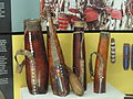 Ashanti gourd containers for milk and blood storage - Springfield Science Museum - Springfield, MA - DSC03373.JPG