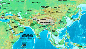 Xiongnu - Xiongnu among other people in Asia around 1 AD.