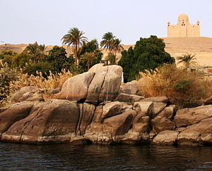 Aga Khan III - Mausoleum of Aga Khan, on the Nile.