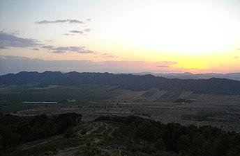 Atardecer desde la Sierra de Salinas, Yecla (Murcia).JPG