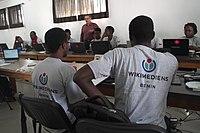 Atelier d'écriture - Wikipédia - WLA2019 Bénin 11.jpg